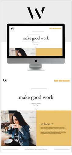 Best Squarespace Template - Custom and Modern Website Templates If you like this design. Check others on my CV template board :) Thanks for sharing! Web Design Trends, Web Design Quotes, Design Ios, Branding Design, Modern Web Design, Homepage Design, Graphic Design, Flat Design, Website Layout