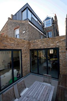 2nd floor loft extension at the back of the property in a terraced house