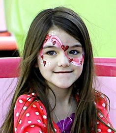 Suri Cruise- Valentine's Day Face Paint Hearts