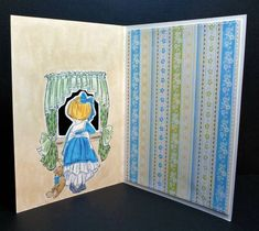 Art Impressions Front/Back Girl with Window Inside by mariajim - Cards and Paper Crafts at Splitcoaststampers