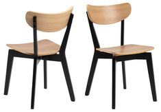 Roxby Krzesło Dębowe 2 szt - MEBLECOM.pl Dining Chairs, Furniture, Beautiful, Home Decor, Contrast, Products, Material, Chair, Woodwind Instrument