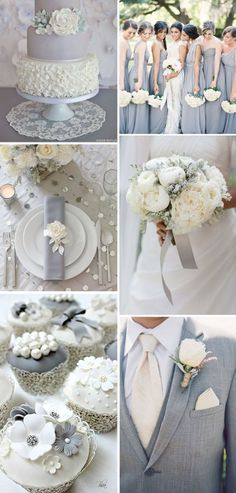 Grey and white themed wedding