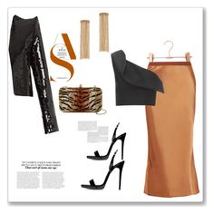 """""""Copper"""" by bv-b ❤ liked on Polyvore featuring Helmut Lang, Keepsake the Label, Yves Saint Laurent, G-lish, Rosantica and Giuseppe Zanotti"""