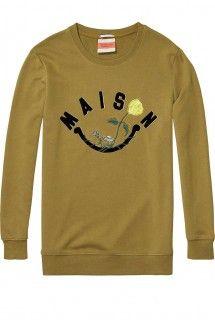 Scotch&Soda olivová mikina Embroidered Logo - 1936 Kč Scotch Soda, Logo, Long Sleeve, Sleeves, Mens Tops, T Shirt, Fashion, Supreme T Shirt, Moda