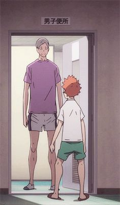 It's moments like these that illustrate really how short Hinata is, or how tall Lev is. xD