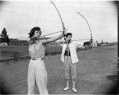 Women archers, 1953.