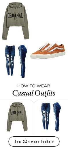 """""""Casual day"""" by belllauren836 on Polyvore featuring Vans"""