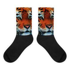 Tiger Black Foot Socks