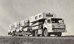 All sizes | 1964 Ford C-Series C-600 Tilt Cab Truck / with new TEE PEE Camper & Trailers | Flickr - Photo Sharing!