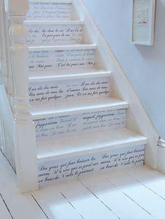 DIY: song lyric stairs