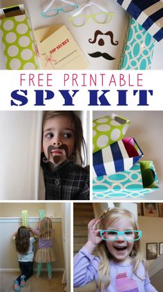 Transform your next hide-and-seek game with this printable spy kit for kids!