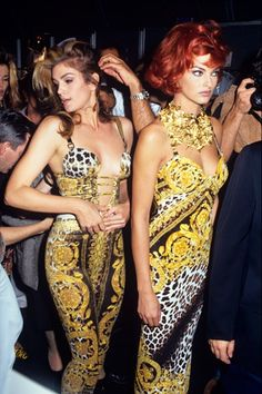 Backstage - Versace show in the 1990's