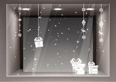 Adesivi Vetrofanie Natale Decorazione Natalizie Adesivo Vetrina Negozio Casa