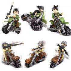 DIY War Military Soldiers Riding Motorcycle (6pcs) //Price: $26.70 & FREE Shipping //     #Brickweapon #Toysforboys #Legoguns #Guns #Toys #Brickarms #Fun #Brickwarriors #Rifles #Shotguns #Gifts