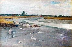 Untitled (probably Saugus River), ca. 1887. Oil on canvas. Charles H. Woodbury. Gift of Ruth R. Woodbury.