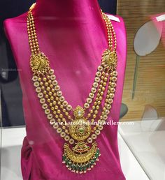 Indian Bridal Jewellery Gold Blouse Designs 60 Ideas For 2019 Classic Bridal Jewellery, Wedding Jewelry, Gold Jewellery, Handmade Jewellery, Wedding Hair, Wedding Dress, Gold Haram Designs, Pandora, Simple Jewelry