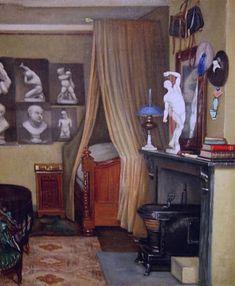 Francis Davis Millet's The Artist's Bedroom in Antwerp Artist Bedroom, Bedroom Art, Home Decor Bedroom, Abstract Canvas, Canvas Art Prints, East Bridgewater, Art Above Bed, Bedroom Prints, Bedroom Images