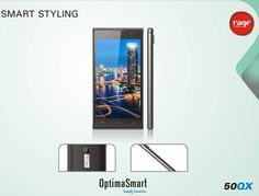 Get stylish with the smart styling of OPS 50QX!  #OptimaSmart #SmartPhone #RageMobiles   Know more: http://goo.gl/usOALk
