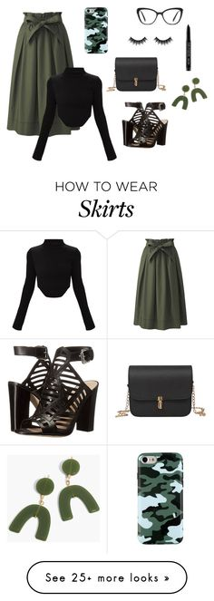"""""""midi skirt"""" by lena-topouzi on Polyvore featuring Uniqlo, GUESS, HUGO, Madewell, Morphe and MAKE UP FOR EVER"""