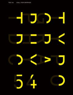 Apeloig:  Type Directors Club New York  Call for entries 54  Affiche, 120 x 176 cm  2007