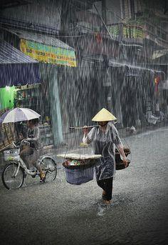 In the Rain - Hanoi, Vietnam