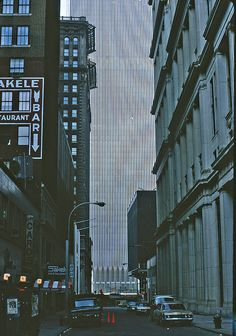 The Wall street area, Manhattan, New York, New Year's Day 1972