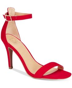 Material Girl Blaire Two-Piece Dress Sandals, Only at Macy's - Red 8M