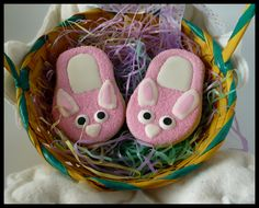 pink bunny slipper cookies