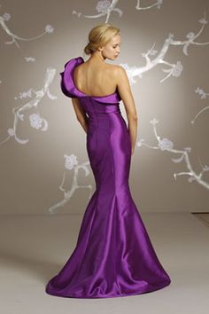 back of purple gown is just beautiful!