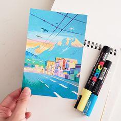 Posca Marker, Marker Art, Art Inspiration Drawing, Art Inspo, Gouache Painting, Painting & Drawing, Posca Art, Guache, Pen Art