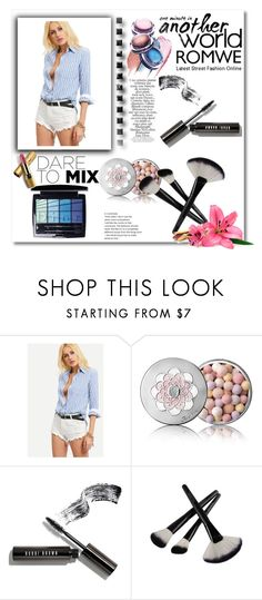 """""""ROMWE"""" by coctaildress ❤ liked on Polyvore featuring Guerlain, Bobbi Brown Cosmetics, Christian Dior, Zimmermann and Avon"""