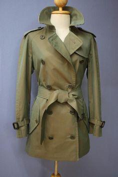Womens BURBERRY Bespoke Short TRENCH Coat Mac 10/12 Small/Medium