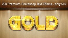 200 Premium Photoshop Text Effects - only $10