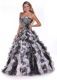$473 alternative wedding dress black and white wedding dress