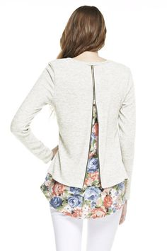 Floral Zipper Back Tunic