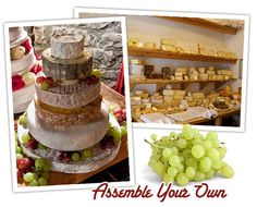 Tiered Wedding Cheese Cakes - Read More on One Fab Day http://onefabday.com/an-alternative-cake-idea-a-wedding-cheese-cake/