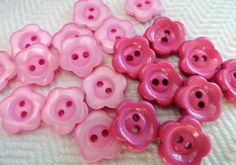 Pink Daisies Vintage Buttons by AddVintage on Etsy, $4.00