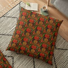 Floor Pillows, Throw Pillows, Digital Art, Cushions, Art Prints, Printed, Awesome, Design, Products