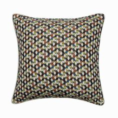 "16""x 16"" Decorative Embroidered Toss Pillows, Geometric Pattern Cushions Multicolor Jacquard Modern Decor Throw Pillow Cover - Colour Lovers Red Cushions, Blue Throw Pillows, Decorative Cushions, Toss Pillows, Blue Bedroom Decor, Blue Home Decor, Embroidered Pillows, Blue Pillow Covers, Handmade Home Decor"