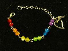 Gorgeous Handmade Gay Pride/Rainbow Bracelet $9.95