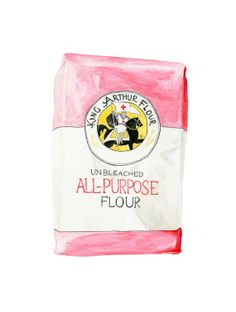 King Arthur Flour Illustration Print de qualité d'archivage