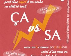 003 Ca vs sa French Teaching Resources, Teaching French, Teaching Tips, French Words, French Quotes, How To Speak French, Learn French, How To Teach Grammar, French Practice
