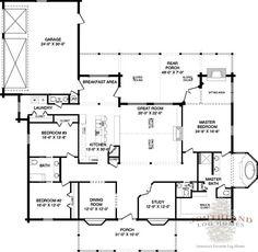 Walker - Log Home Plan | Southland Log Homes