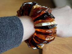 Massive amber bracelet Stretchy amber bracelet by Golden Earrings, Amber Earrings, Amber Bracelet, Bracelets, Bangles, Baltic Amber Jewelry, Amber Stone, Pendants, Organic