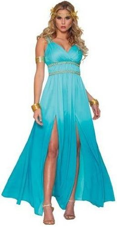 Game of Thrones Khaleesi Blue Warrior Princess Costume with Wig $59.95