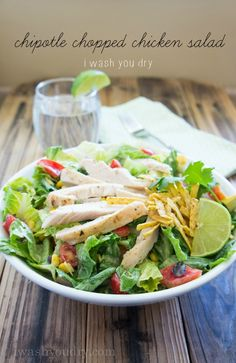 Zesty Chipotle Chopped Chicken Salad