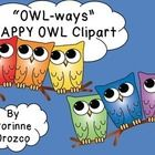 I'm so happy to share with you these latest owl clip art!   This 20-piece set is of vibrant-colored happy owl images created by me, Corinne Orozco....