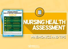 nursing health assessment mnemonics & tips to help you through your nursing assessment and physical examinations and data gathering. Nursing Assessment, Nursing Diagnosis, Pharmacology Nursing, Nursing Care Plan, Nursing Tips, Nursing Notes, Nursing Degree, Nursing Career, Travel Nursing