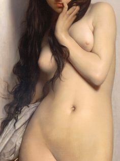 "beautiful nude skin paint by Lefebvre (spelling correct ; ), Jules Joseph (1836Mar14-1911Feb24, d. @75) ""The Grasshopper"" 1872 (detail) • french painter •  exhibits: 72 portraits in Paris Salon 1855-98 • awards: Prix de Rome 1861 • mbr of French Académie des Beaux-Arts since 1891 • professor at École des Beaux-Arts + instructor of 1500+ students at Académie Julian in Paris (excellent & sympathetic teacher; pupiled many American painters) • http://en.wikipedia.org/wiki/Jules_Joseph_Lefebvre"