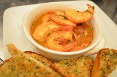 Drunken Cajun Shrimp - Steamed Shrimp in a spiced-Ale broth; with garlic bread